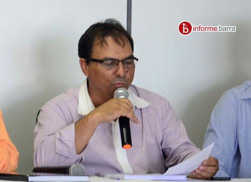 Para o presidente da câmara, Tôe Brito (foto), o projeto é desnecessário no momento. Foto e fonte: www.informebarra.com.br