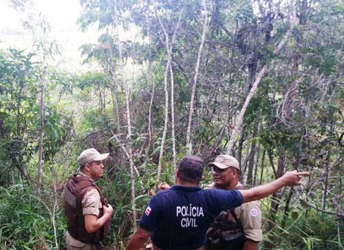 As polícias Civil e Militar estiveram no local e constataram a veracidade da denúncia.