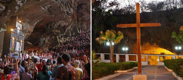 Centenas de pessoas visitam a Gruta da Mangabeira