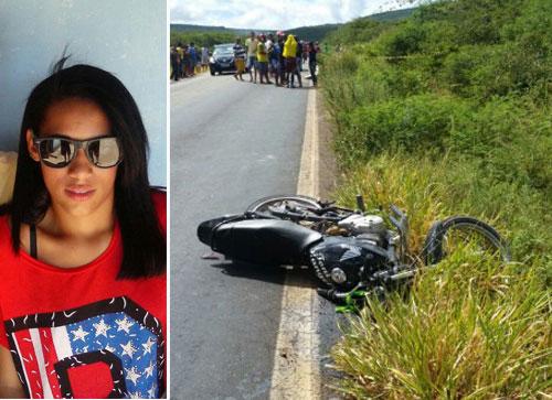 A adolescente estava na garupa da moto. Foto: Informebarra.com.br
