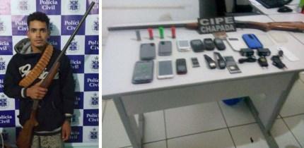 'Júnior de Linda' vinha sendo procurado há muito tempo pelas policias Militar e Civil | FOTO: Divulgação/Cipe |