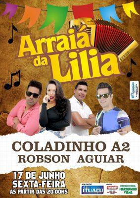 As bandas Coladinho A2 e Robson Aguiar animarão a galera no dia 17 de junho (Foto: Divulgação).