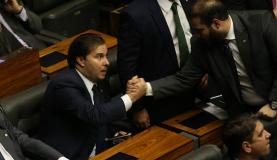 O deputado Rodrigo Maia (DEM-RJ) venceu a eleição para a presidência da Câmara com 120 votos (Foto: Fabio Rodrigues Pozzebom/Agência Brasil)