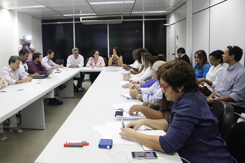 Reunião das empresas credenciadas pelo projeto Primeiro Emprego do Governo do Estado. Foto: Camila Souza/GOVBA