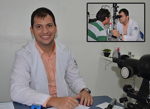 O Dr. Diego Passos atende em 15 e 15 dias no consultório das Óticas Lider.