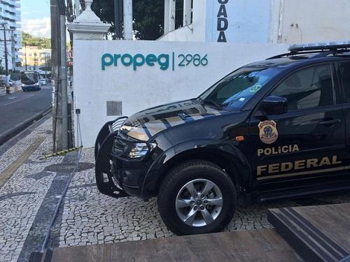 Agência de publicidade na Ladeira da Barra é alvo de mandados da PF (Foto: Fernanda Rebouças/TV Bahia)