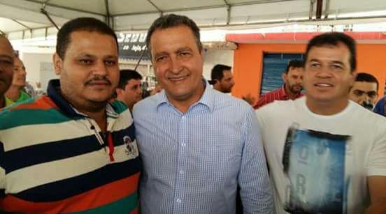 Rui Costa ao lado do prefeito eleito em Ibicoara, Haroldo.