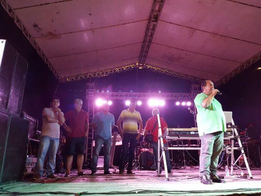 Prefeito Albercinho e os vereadores: Marcinho de Noé, Beto de Oscar, Anísio Braz e o ex - Vereador Tonhão.