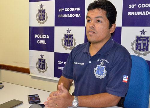 O Coordenador da 20ª Coorpim, Dr. Leonardo Rabelo (foto) destinou um dos novos investigadores para Ibicoara.